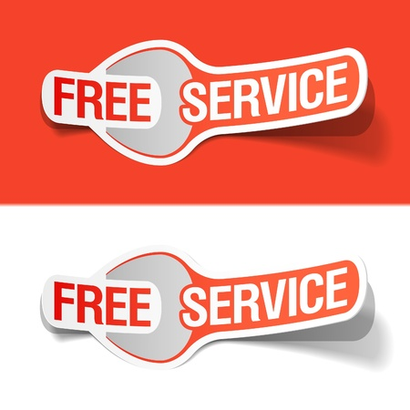 free time: Free service labels Illustration