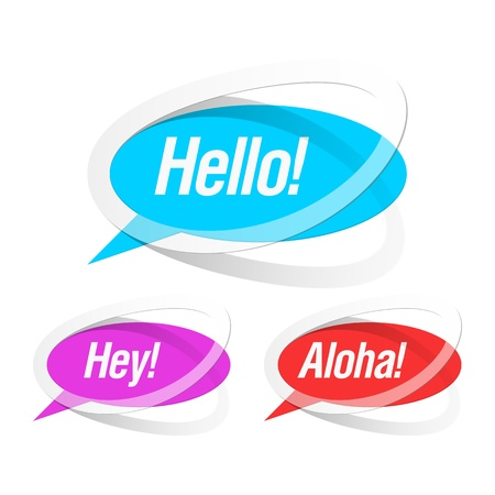 hey: Colorful bubbles. Easily to replace color and text.