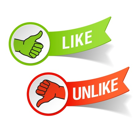 ok: Thumb up and down gestures - like and unlike