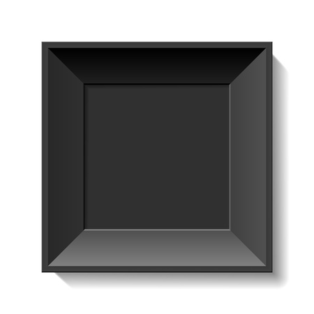 black picture frame: Black photo frame Illustration