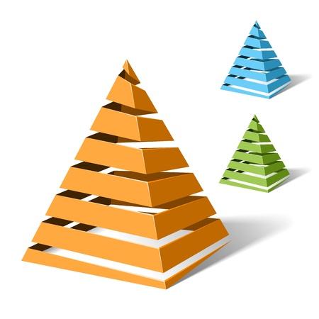 concepto: Pirámides de espiral Vectores