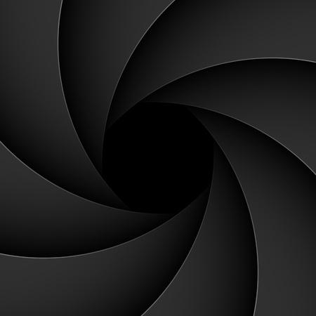 Apertura del obturador Ilustración de vector
