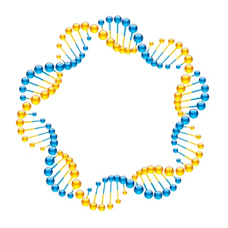 DNA Strands Stock Vector - 9882326
