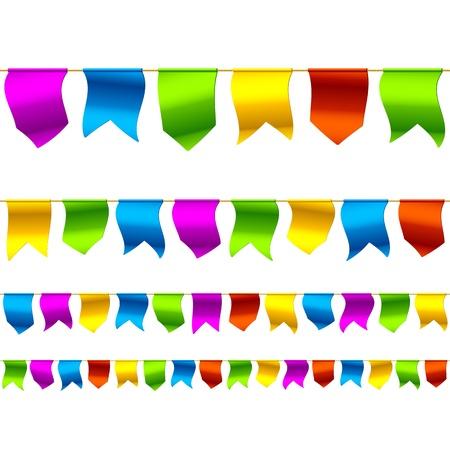 högtider: Bunting flags. Seamless illustration.