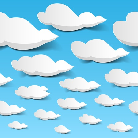 cloud sky: Seamless clouds sky Illustration
