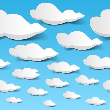 himmelsblå: Seamless moln himmel