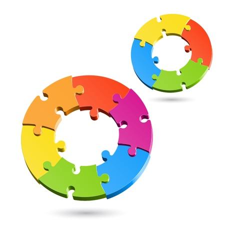 jigsaw set: Jigsaw puzzle circles