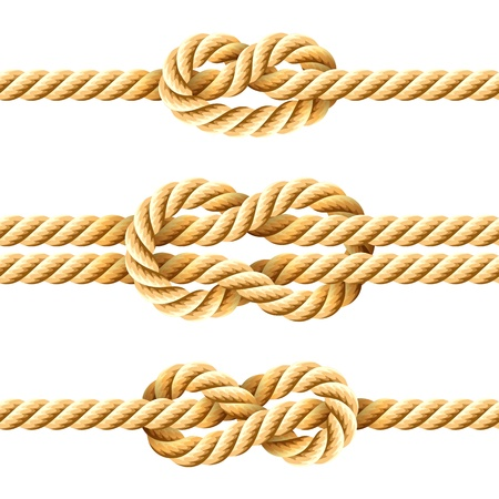 fastening objects: Rope knots