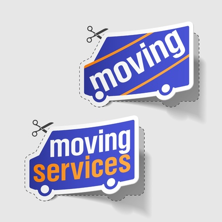 Moving services labels Stock Vector - 10358732