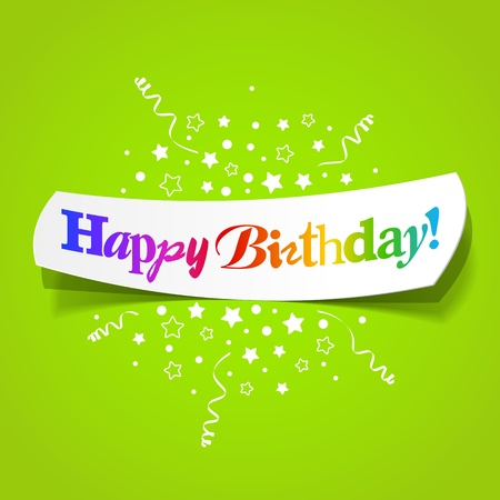 congratulation: Happy birthday greetings Illustration