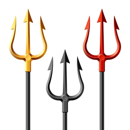 trident: Gold, black and red tridents