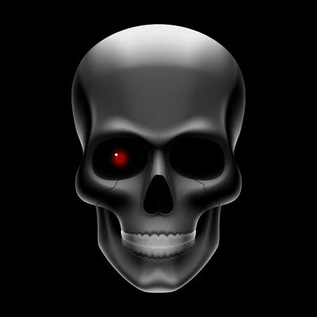robot: Cr�neo tuerto en negro Vectores