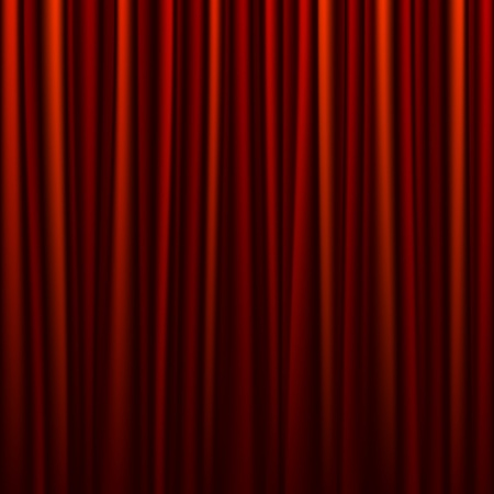 Seamless red curtain Stock Vector - 10495566