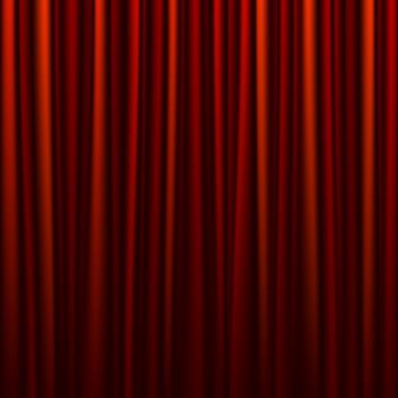 broadway show: Senza soluzione di continuit� sipario rosso Vettoriali
