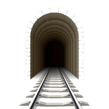 Entrada al túnel de ferrocarril Ilustración de vector
