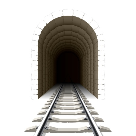 Entrance to railway tunnel Stock Vector - 10621569