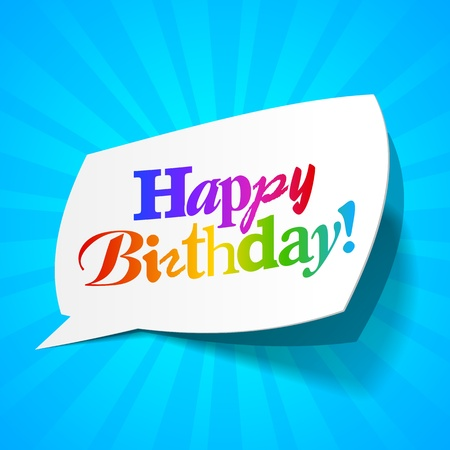 Happy birthday - greetings bubble Vector
