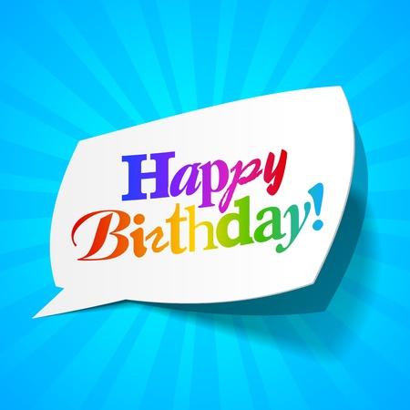 Happy birthday - greetings bubble