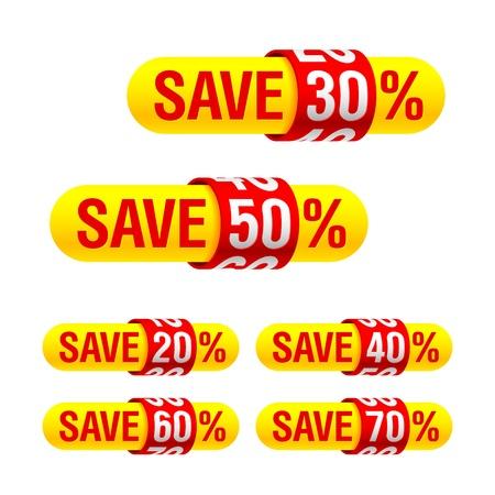Discount labels Stock Vector - 11099748