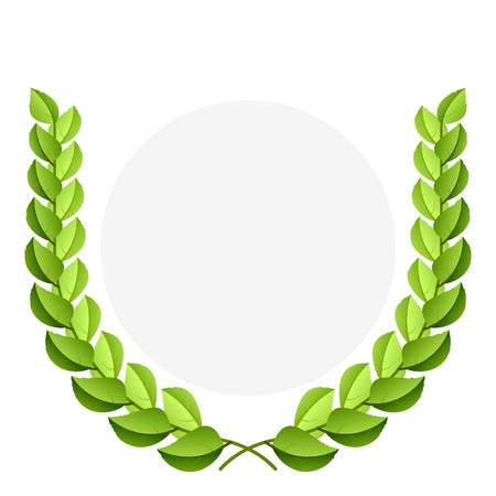Green laurel wreath Vector