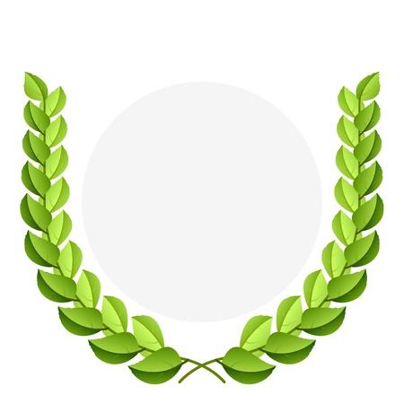 laurels: Green laurel wreath
