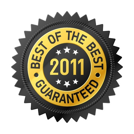 Best Of The Best 2011 label  Stock Vector - 11196011