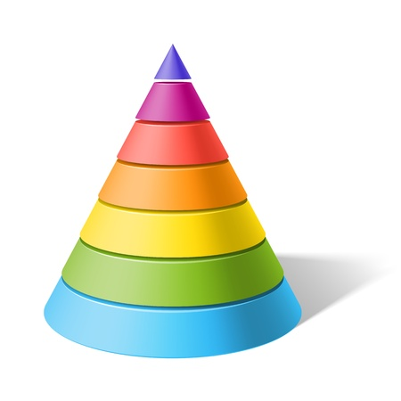 Layered cone Illustration
