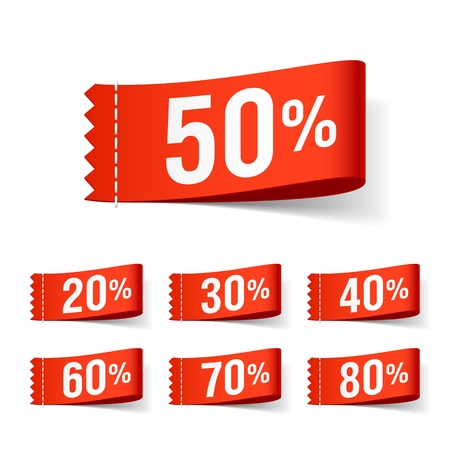 price reduction: Discount labels