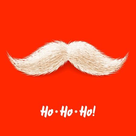 weihnachtsmann lustig: Santas Schnurrbart Illustration