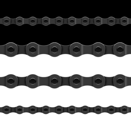 Seamless bicycle chain Vector