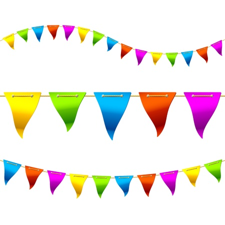 fun fair: Bunting flags