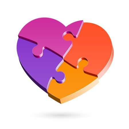 Puzzle heart Stock Vector - 11662216