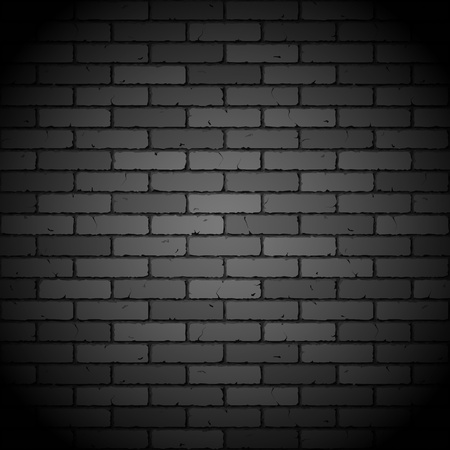 old brick wall: Black brick wall