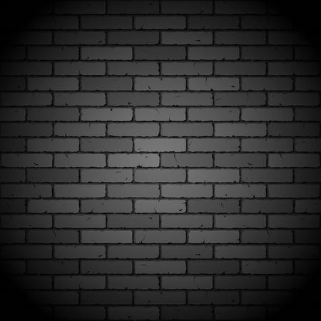 brickwall: Negro pared de ladrillo