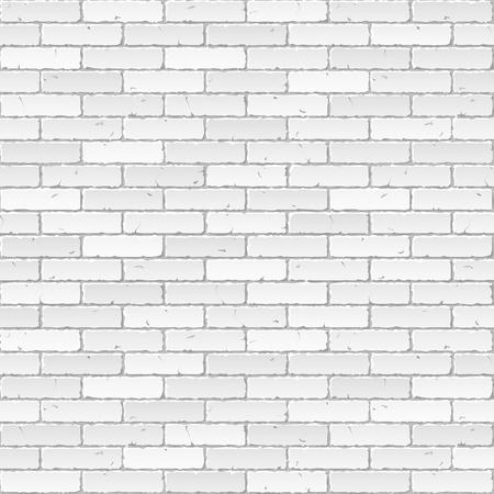 Blanco muro de ladrillo Ilustración de vector