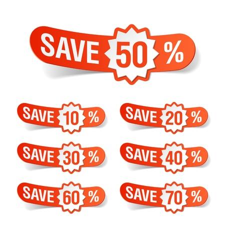 cut price: Discount labels