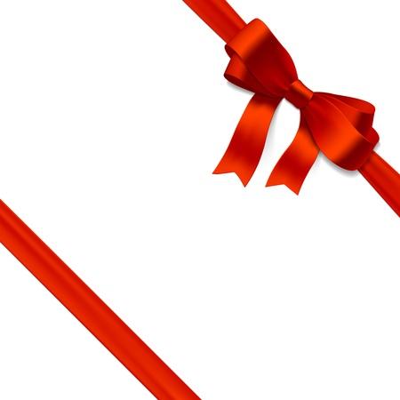 Arc cadeau avec un ruban rouge
