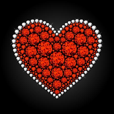bling bling: Diamant-Herz