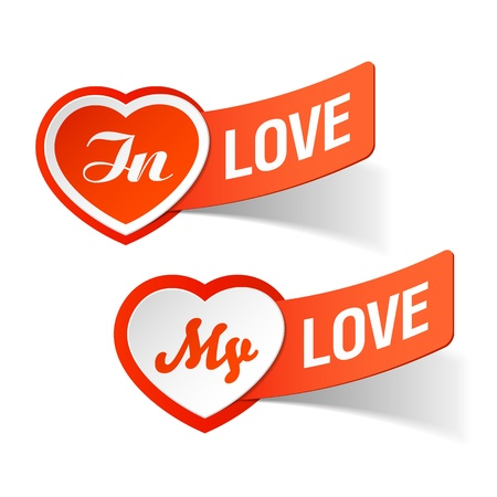 In love, my love labels Vector