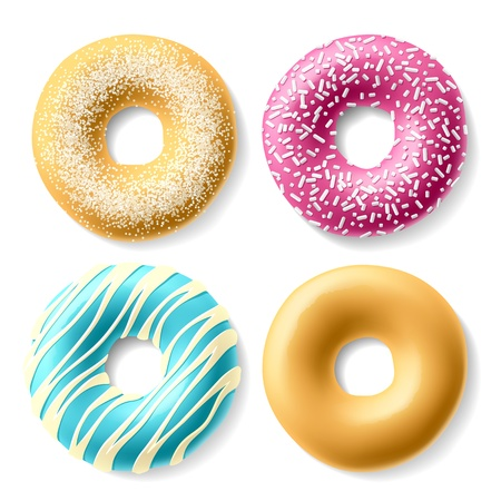 donut: Colorful donuts