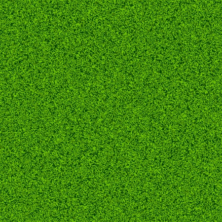 Groen gras veld. Naadloze illustratie. Vector Illustratie