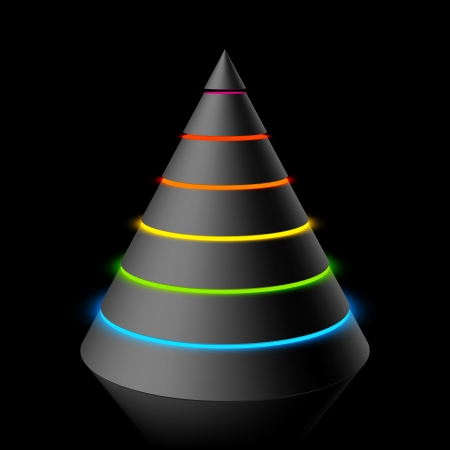 hierarchy: Layered cone Illustration