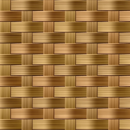 Wicker Muster. Nahtlose Illustration.