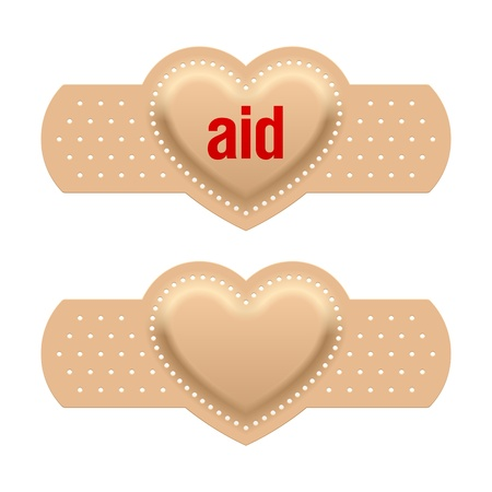 corazon roto: De primeros auxilios con el amor Vectores