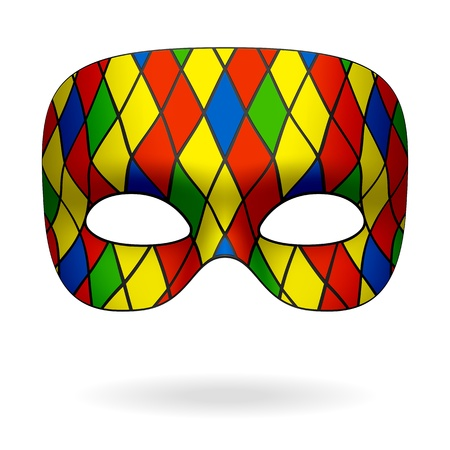 paper mask: Harlequin mask