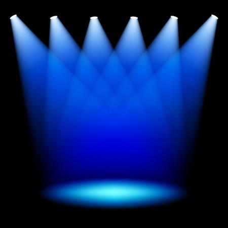 Stage spotlights Stock Vector - 12493498