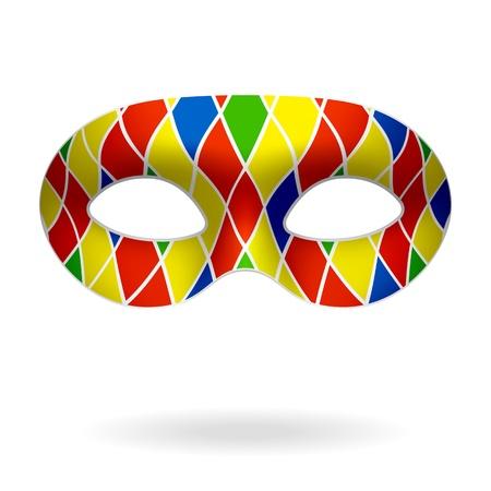 carnaval masker: Harlequin masker Stock Illustratie