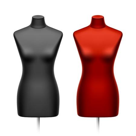 Female tailors dummy, mannequin Stock Vector - 12493623