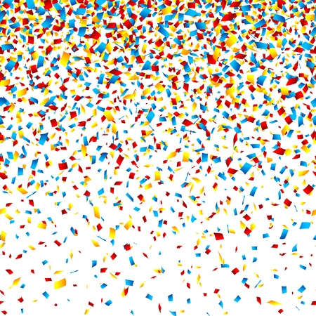 serpentinas: Confeti horizontalmente ilustraci�n perfecta Vectores