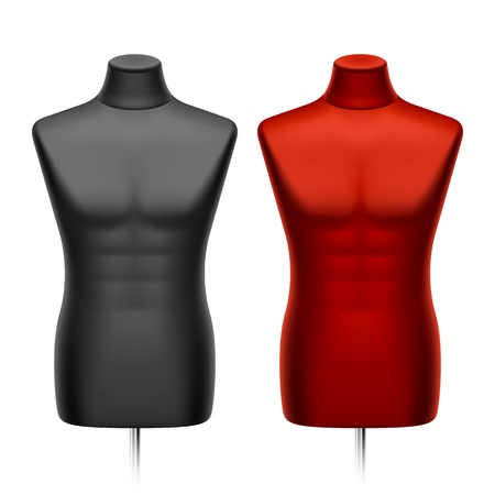 Male tailors dummy, mannequin Vector